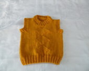 Baby round neck color honey tank size 9/12 months