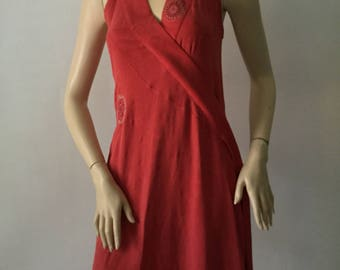 Kenzo Jungle Vintage Red Silk Dress size38