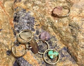 Handmade Crystal Gemstone Boho Hair Rings