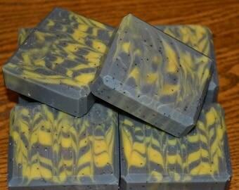 Natural Lemon Poppy Seed Soap