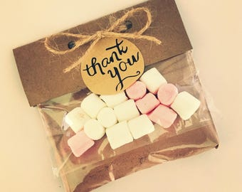 Hot Chocolate Marshmallow Wedding Favours