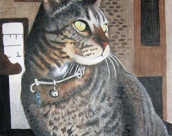 Custom Pet Portrait Artwork by Stephanie,  I also have experience painting and drawing; Children, Animals, Adults and Architecture.