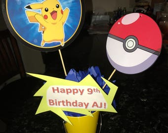 Custom Pokemon Centerpiece