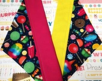NEW! Yummy Treats Slip-on Collar Bandana