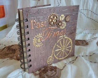 Mixed Media Past Times Notebook / Mixed Media Book / Mixed Media Journal / Steampunk