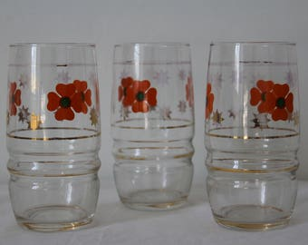 Vintage 70s water glasses