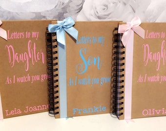 Letters to my Daughter/Son as i watch you grow personalised notebook memories keepsake