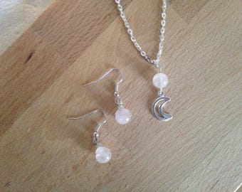 Set with necklace and earrings