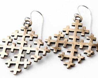 "Bronze Earrings ""The Crosses"" (large)"