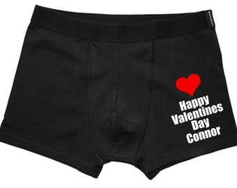 personalised valentines mens boxer shorts husband gift valentines gift funny underwear novelty