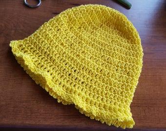 crocheted summer hat, child hat, crochet hat for toddler,