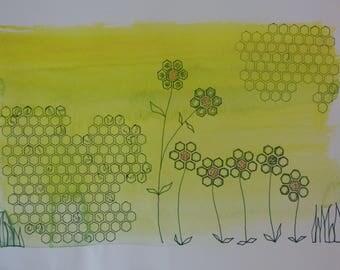Flowers Geometric