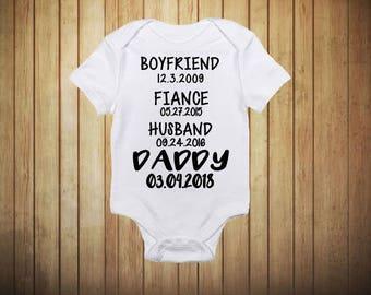 Daddy Announcement Onesie