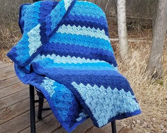 50 Shades of Blue Throw Blanket
