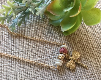 Dragonfly Essential Oil Necklace