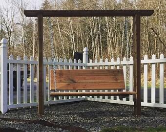 Custom Wooden Bench Swing