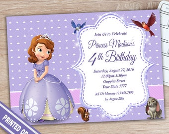 Sofia The First Invitation - Princess Sofia Birthday Invitation - Sofia Birthday Invitation