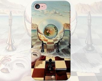 Chess Phone case iPhone 7 7 Plus 6 6s 6 plus 5 5s 5se 4 4s Samsung galaxy case s7 edge s7 s6 s5 s4 s3 cover checkers surrealism art case