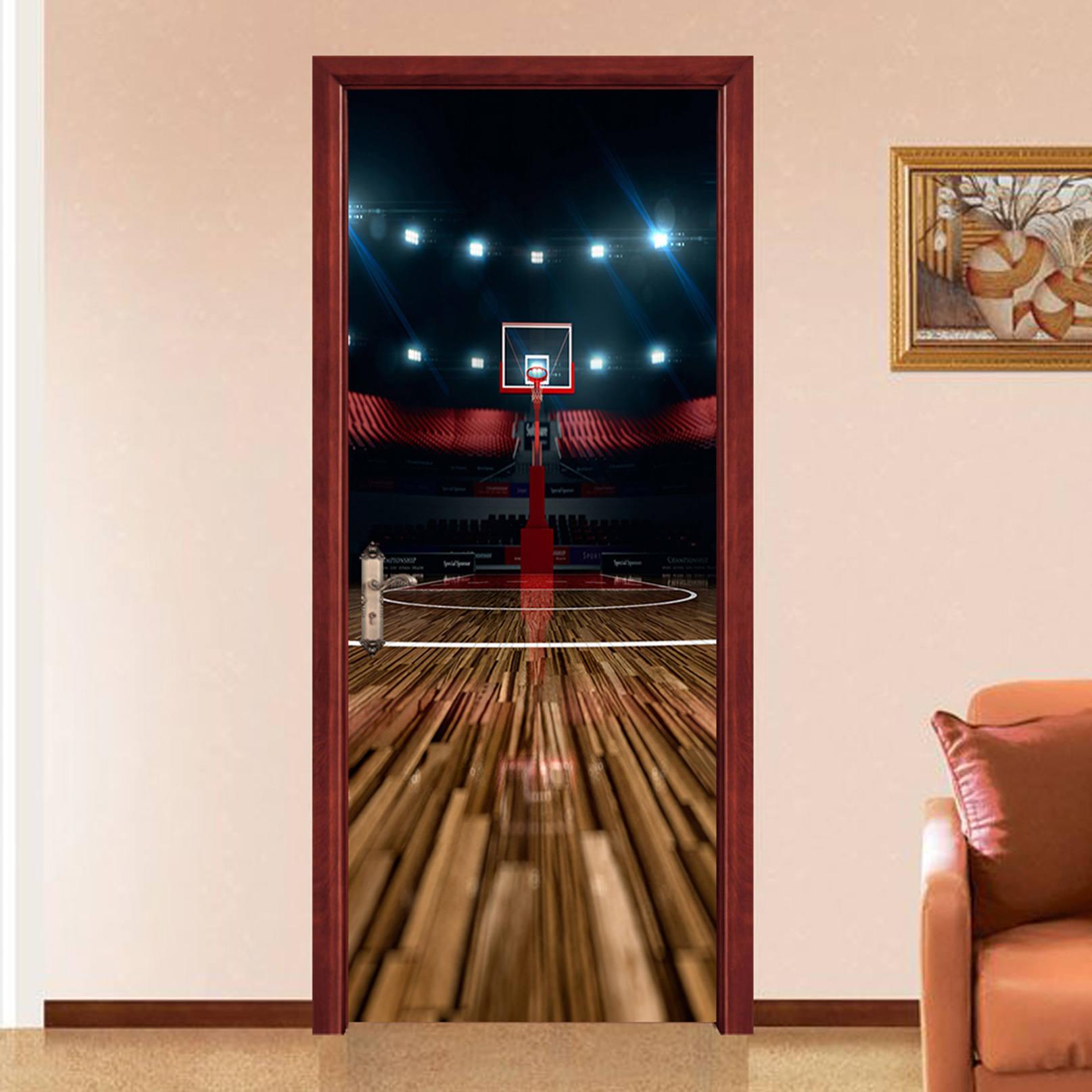 3d basketball court 513 view mural door wallpaper mural wall print 3d basketball court 513 view mural door wallpaper mural wall print decal wall deco wall mural amipublicfo Choice Image