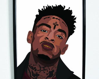 21 Savage A4 Art Print