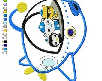 Octonauts Sub Applique Embroidery Design - INSTANT DOWNLOAD