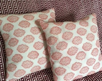 Block Printed Cushion Cover 40 cm x 40 cm
