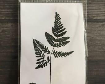Impression Obsession Leaf Rubber Cling Stamp