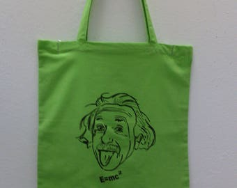 Albert Einstein, gift idea, bag for every day, bag fabric, bag for him, brother gift, unique bag, unique gift, birthday bag, bag for woman