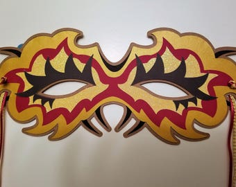 Decorative Mask (Yellow and Red)