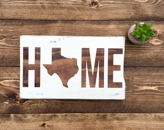 Home Decor - Rustic Home Decor - Fixer Upper - Fixer Upper Style - Farmhouse - Housewarming Gift - Farmhouse Decor - State Sign - Wood Sign
