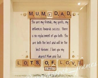 Mum and Dad Handmade Personalised Frame