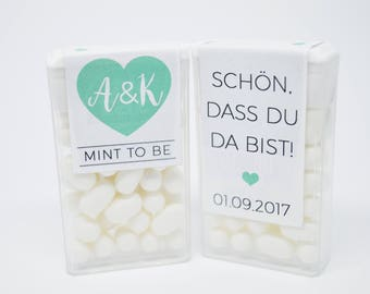 20 x Tic Tac label gift Mint to be TicTac