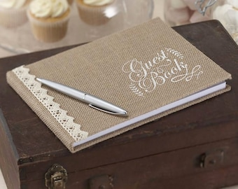 Rustic Hessian Guest Book