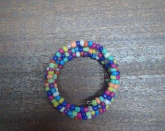 rainbow arm beads