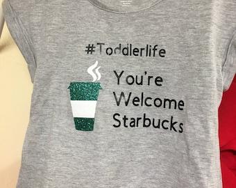 Starbucks toddler shirt