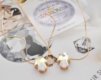 Swarovski famsa hand necklace