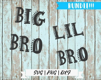 Big Bro LIL Bro svg / BUNDLE / Big Brother Shirt SVG / Big Brother Little Brother svg / Brother Cut File / Boy Bro Tee Design /
