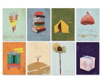 Wes Anderson Illustrated Poster's