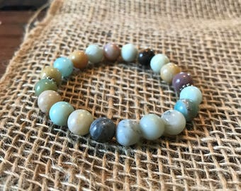 Mixed Amazonite beaded bracelet