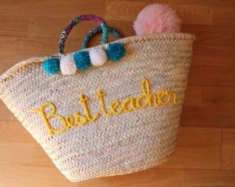 Personalized basket / beach basket