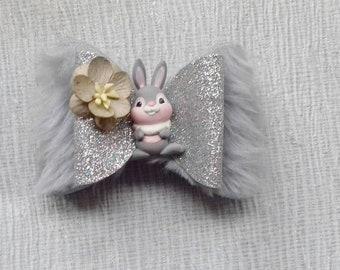 Rabbit hair bows