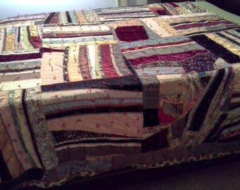 Vintage confused crazy quilt
