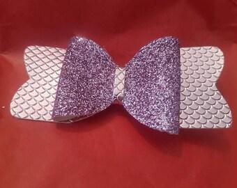purple mermaid bow