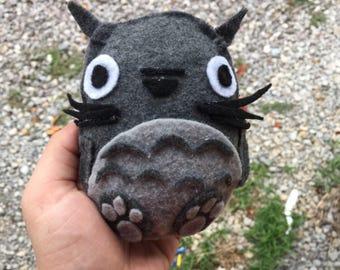 Small kawaii felt stuffed plushie -- Totoro