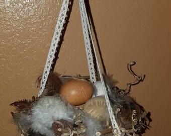 Hanging grapevine egg nest