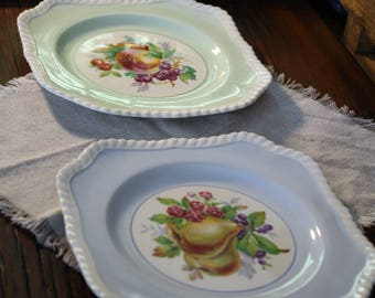 Johnson Brothers Vintage Plates, Bread and Butter Plates, Set of 2 California Pattern, Vintage Tableware, Antique Tableware, Made in England