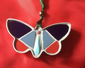Mosaic butterfly hanging decoration. Ideal gift for Christmas, birthday or anniversary.