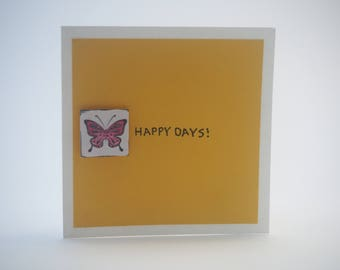 Butterfly Yellow Happy Days Card