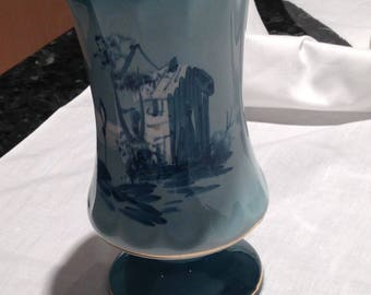 Green painted Vase Made in Portugal 3030