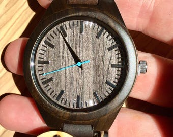 Wood Watch, Men's Wooden Watch, Mens Wood Watch,Wood Watches for him, personalize watch, Boyfriend Gift, Gifts for Dad, Gift